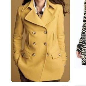 Talbots yellow pea coat